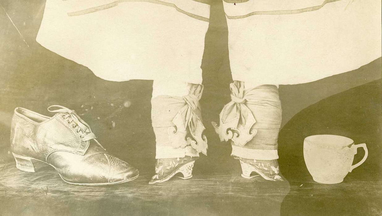 "foot binding The document, ""the rules and regulations of marriage from the anti- footbinding society of hunan""can be used to address two major themes:  tensions."