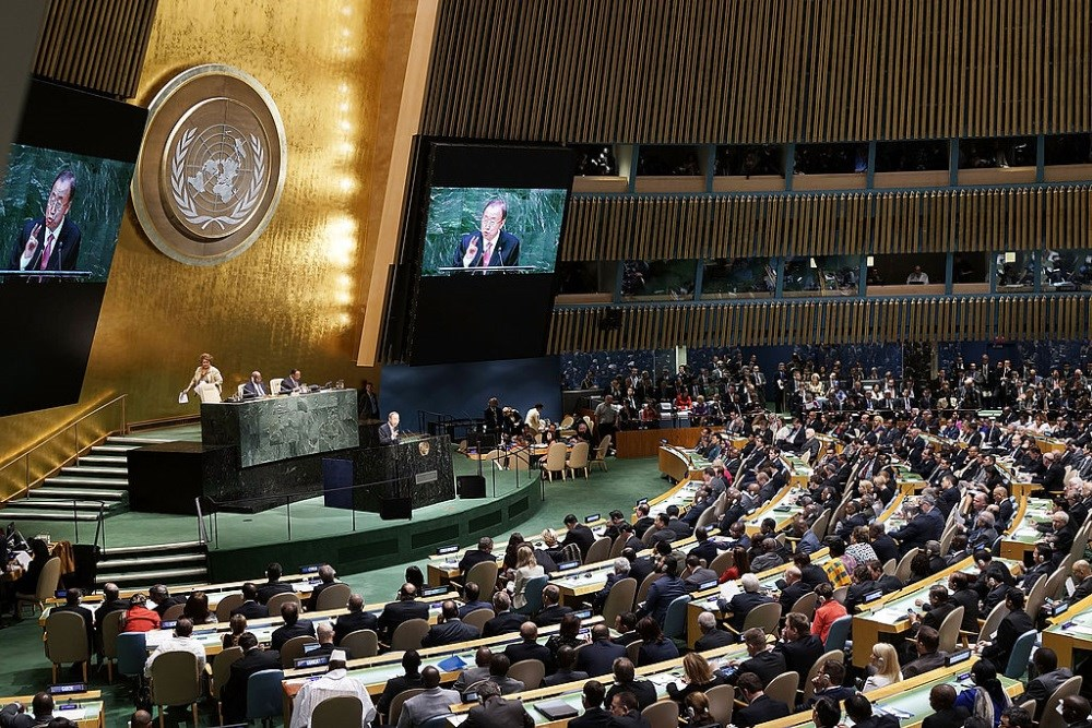 The United States has declared it will enforce the UN's motion for this goal.